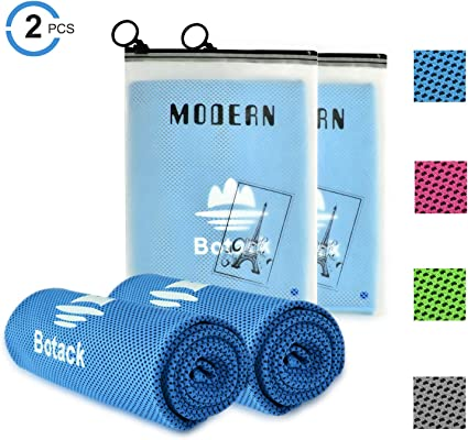 """35/""""x12/"""" Cooling Towel Ice Microfiber Soft Breathable Chilly Towel 4 Pack"""