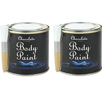 2 X 200g Chocolate Body Paint Tins Hen Stag Bedroom Night