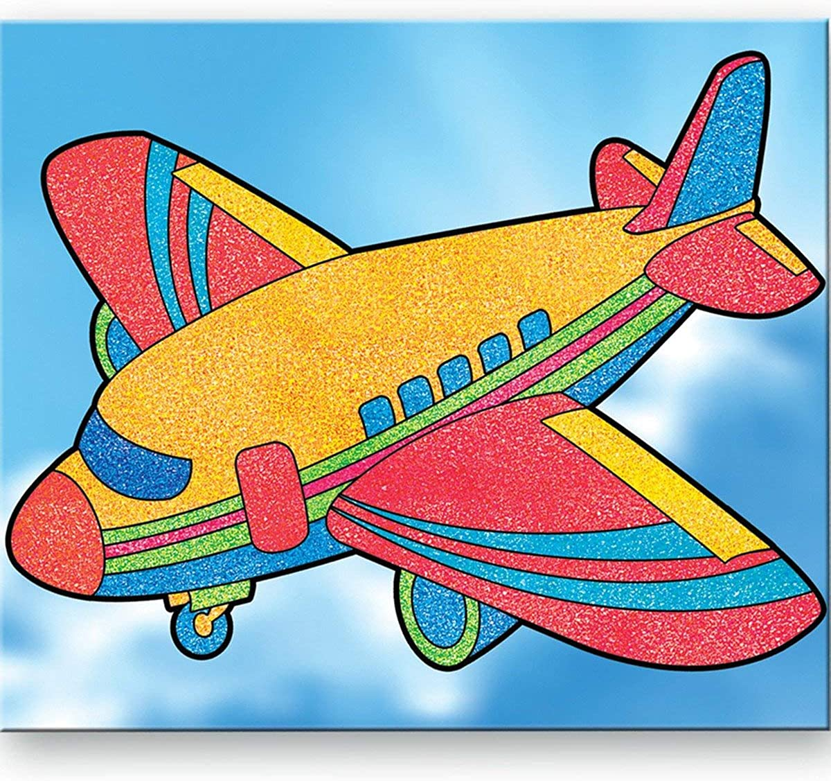 Toykraft Craft Activity for 3 to 6 Years Old of Filling Sand On Pre-Glued Templates to Get 3 Sand Pictures of Different Ships Sand Art Pictures Ships