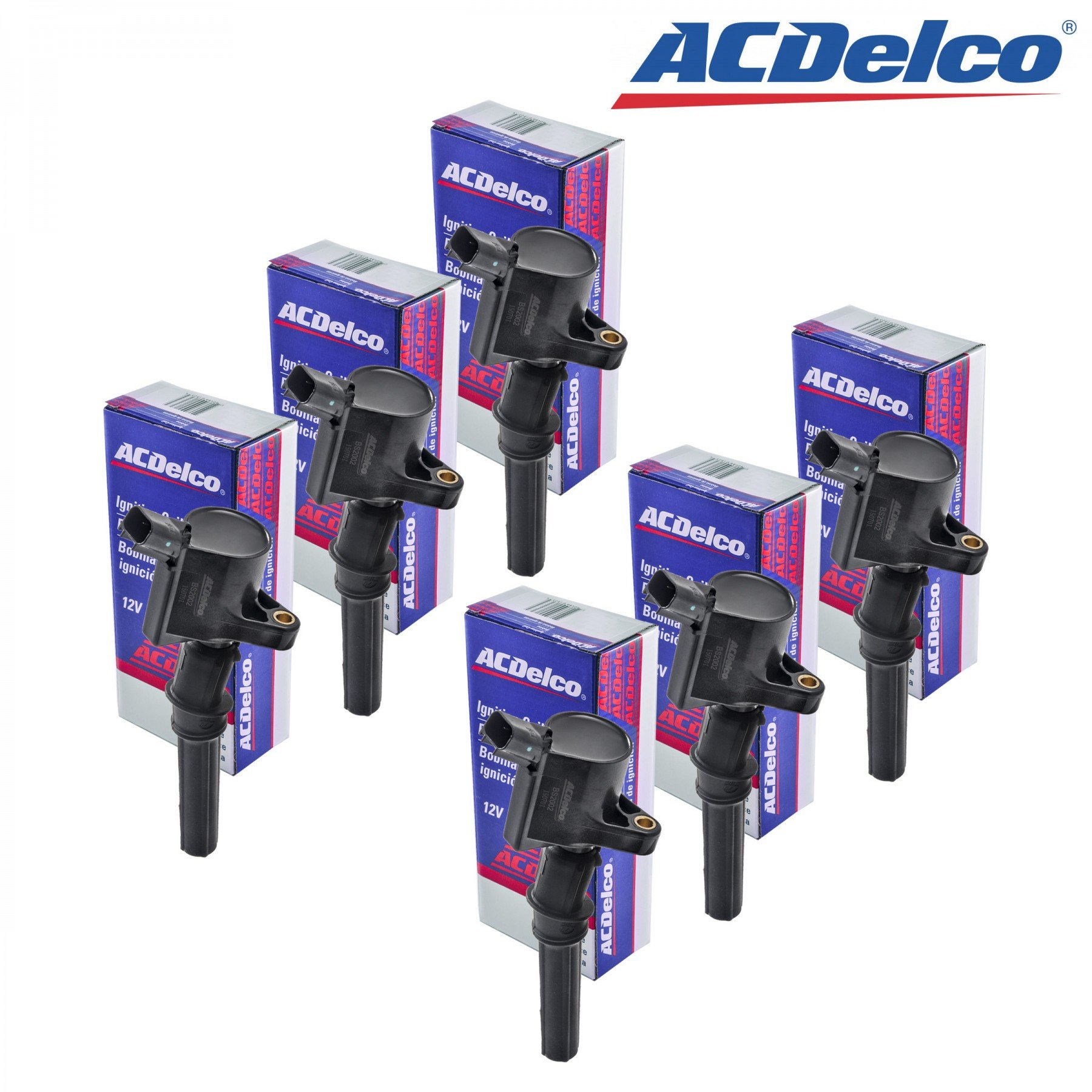 New ACDelco Ignition Coil Set (6) 1997 1998 1999 2000 2001 2002 2003 2004 Ford F-150 V8-5.4L DG508 F523