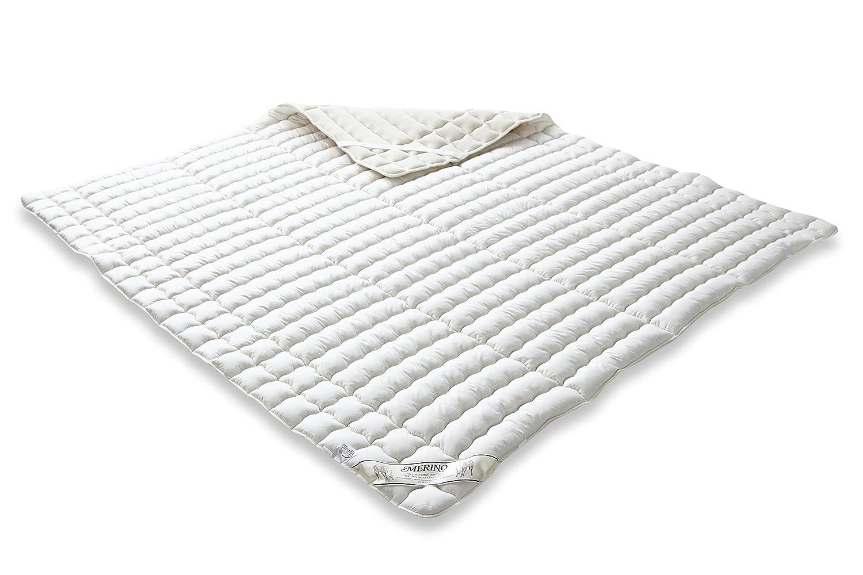 Badenia 03883211000 –  Coprimaterasso in percalle merino con imbottitura in lana vergine, crema, Cotone, crema, 90 cm x 190 cm 03883291000