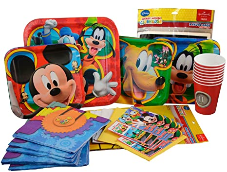 Mickey Mouse Party Supplies Birthday Pack. Mickey and Friends Clubhouse Ultimate Party Supplies Set  sc 1 st  Amazon.com & Amazon.com | Mickey Mouse Party Supplies Birthday Pack. Mickey and ...