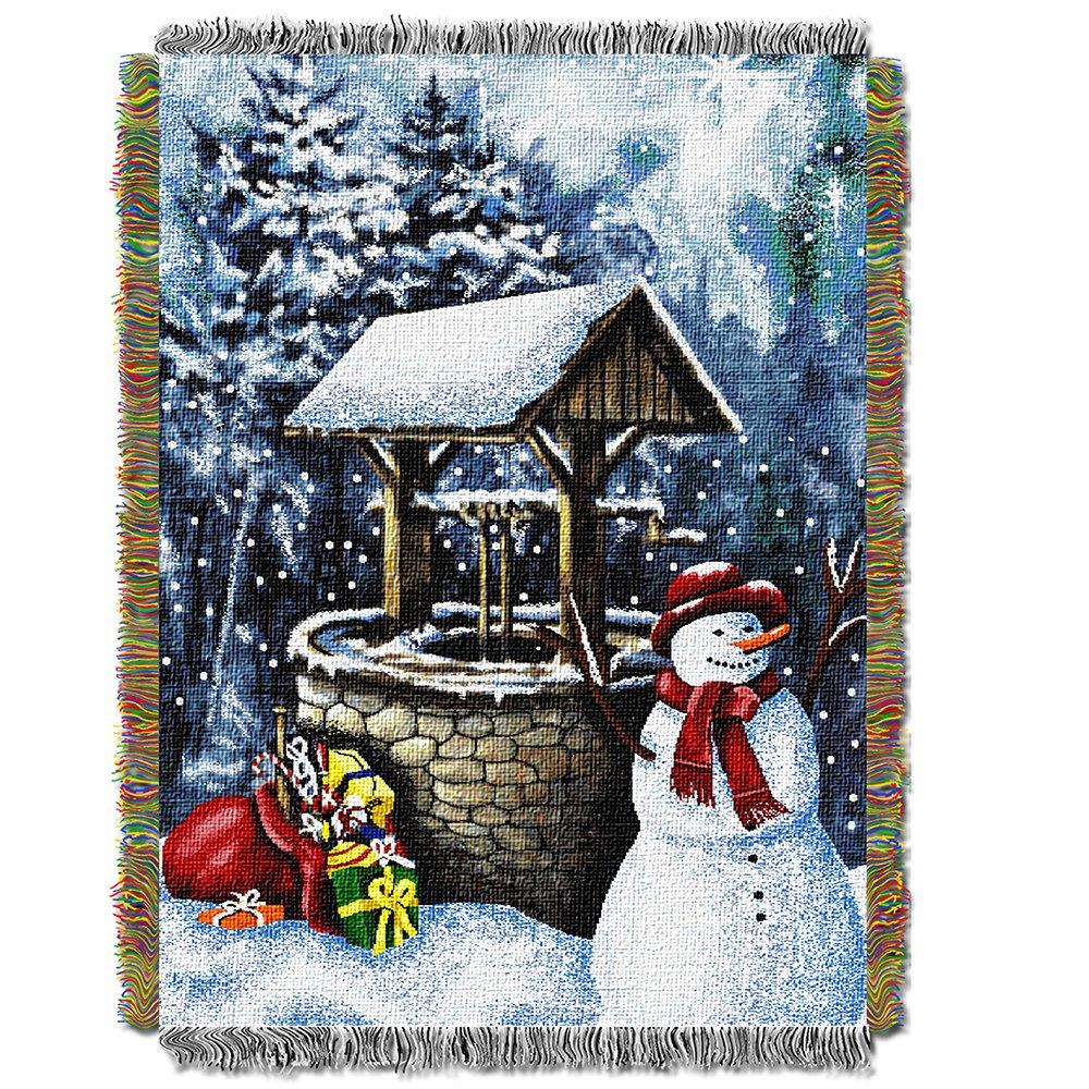 The Northwest Co EnT 051雪だるまWishing Well Tapestry Throw B00XLVWKSA