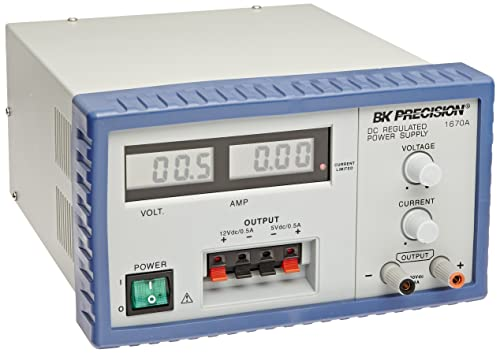 B K Precision 1670A Triple Output Digital Display DC Power Supply, 30V, 3A