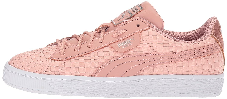 PUMA Women's Wn Basket Satin En Pointe Wn Women's Sneaker B0721JCDQ2 8 B(M) US Peach Beige-puma White 7ff65d
