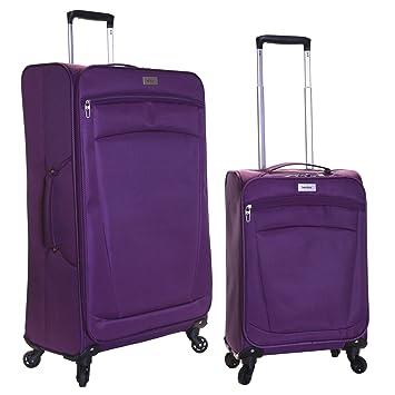 Karabar Marbella juego de 2 maletas ultraligeros, Púrpura: Amazon.es: Equipaje