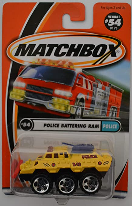 Amazon Com Police Battering Ram 54 Yellow Matchbox Mattel Wheels