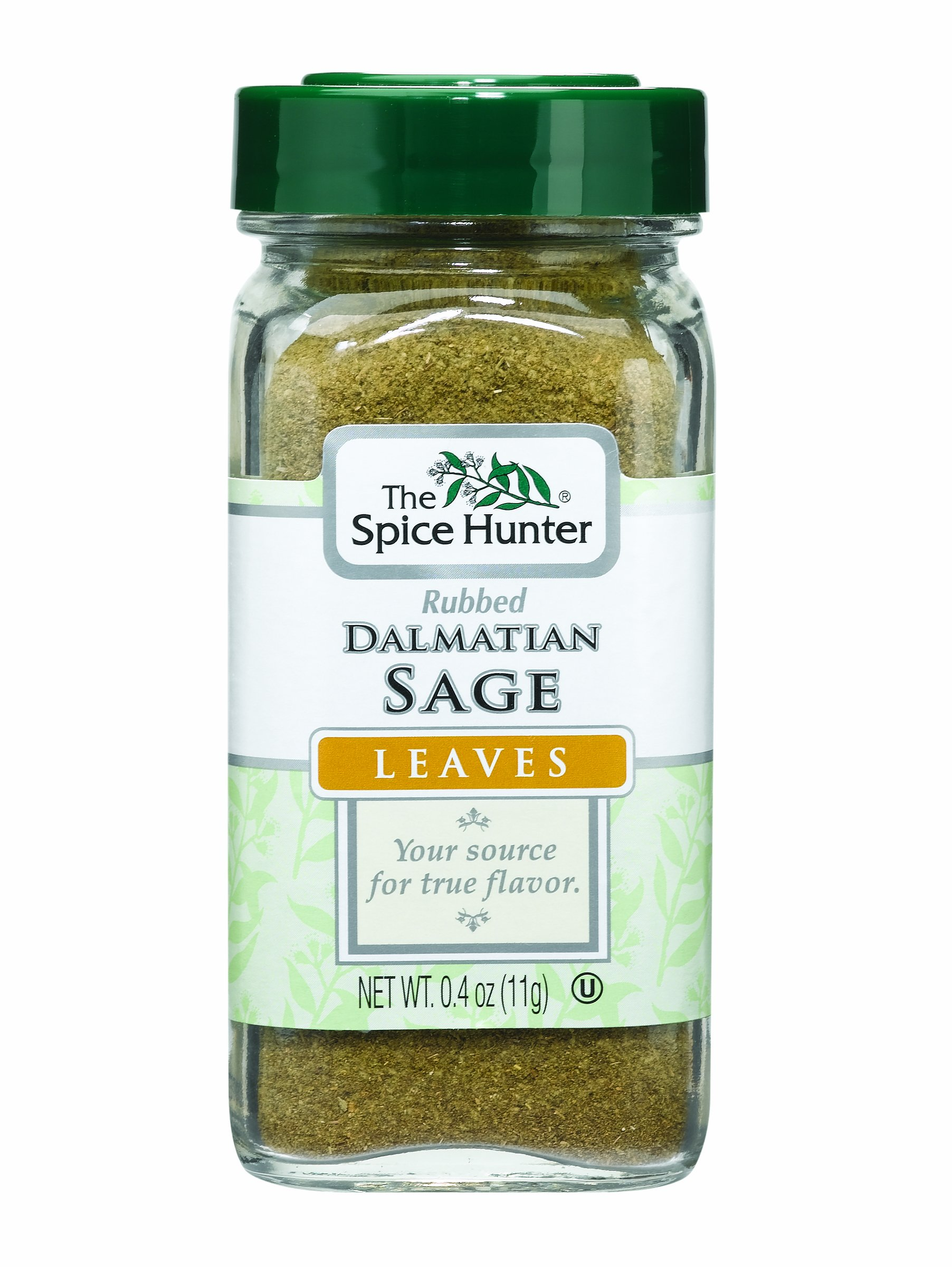 The Spice Hunter Sage, Rubbed, Dalmatian, Leaves, 0.4-Ounce Jars (Pack of 6)