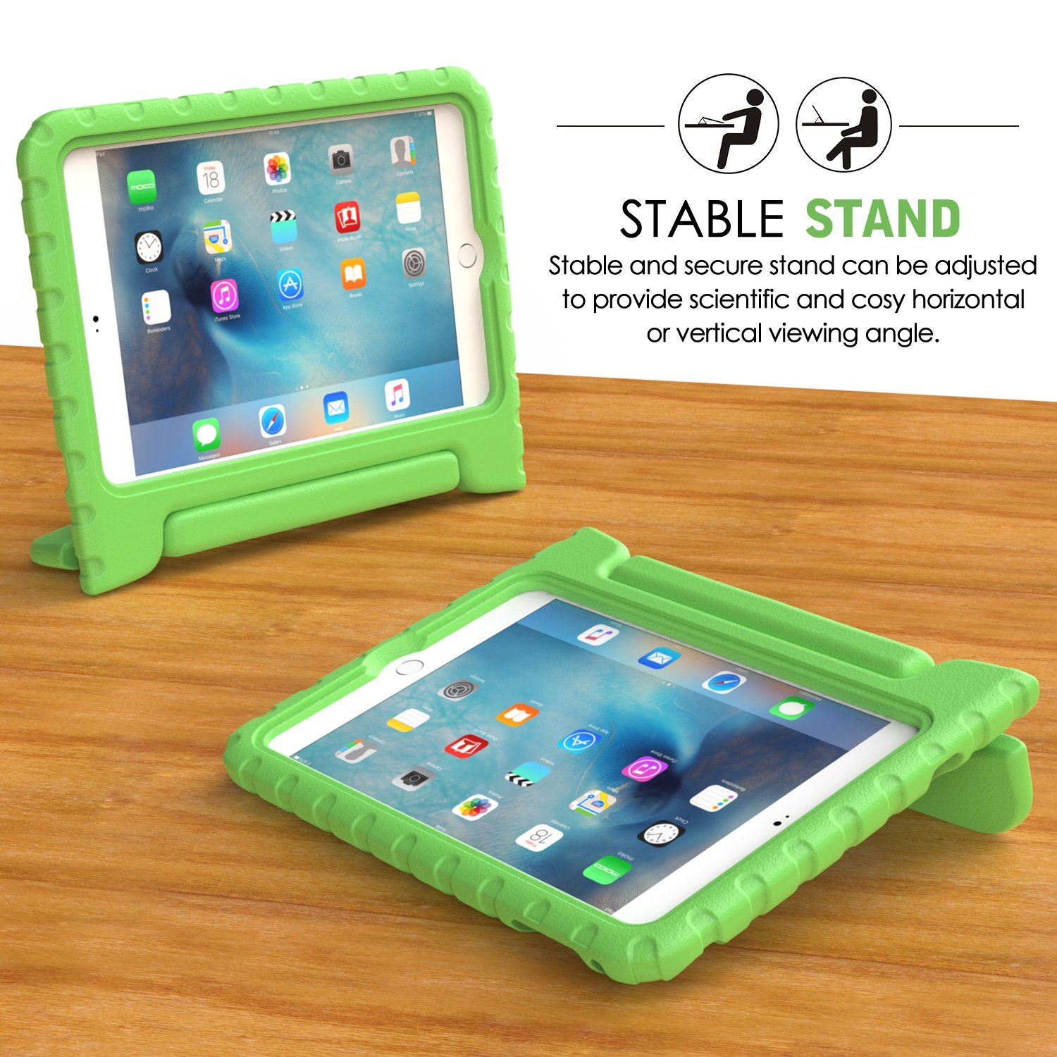 Kid Proof iPad mini 4 Case with handle that doubles as a stand