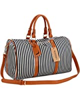 BAOSHA HB-24 Ladies Women Canvas Weekender Bag Travel Duffel Tote Bag Weekend Overnight Travel Bag
