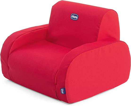 Chicco Twist - Sillón para niños, transformable y desenfundable, 3 posiciones diferentes, color rojo (Red)