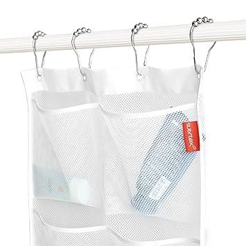 Subrtex Mesh Bath Shower Organizer With 6 Pockets For Bathroom (17 Inch X  21 Inch