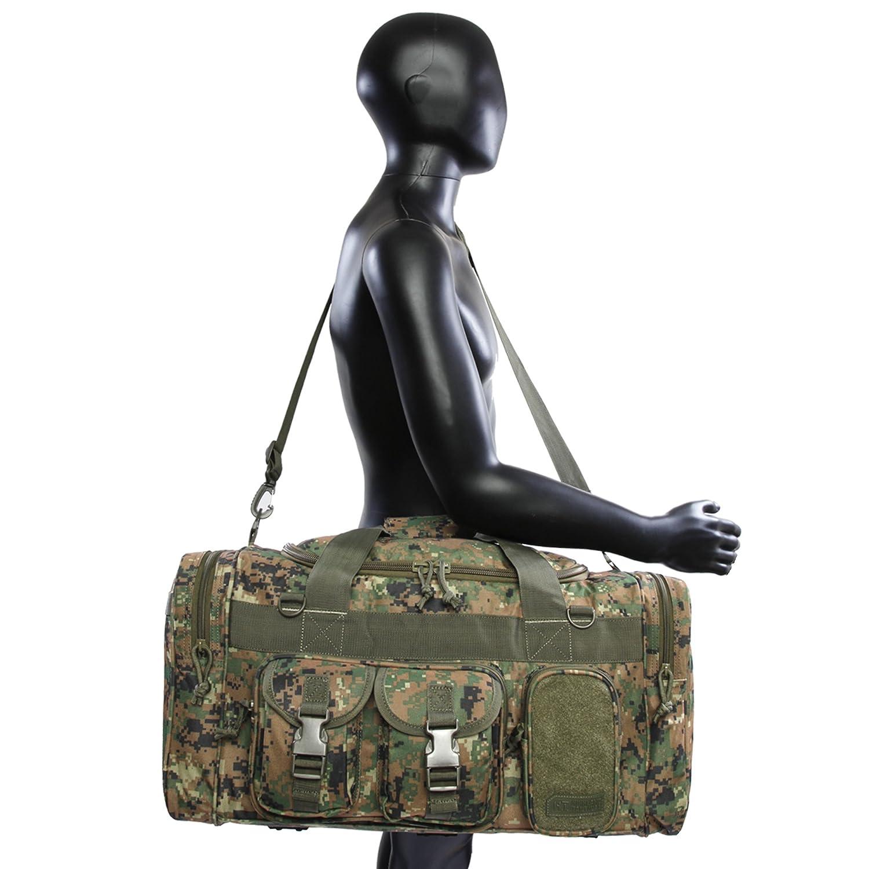 Highland Tactical Mens Ranger Tactical Duffel Bag Green Digi Camo