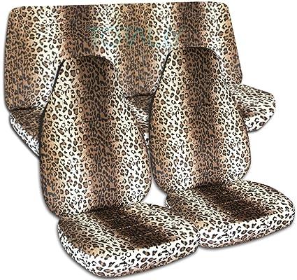 Animal Print Car Seat Covers Tan Leopard