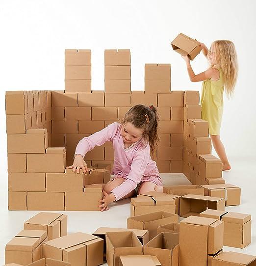 GIGI Bloks - Bloques de Construcción Gigantes de Cartón, Juegos de Construcción para Niños 60 Piezas XXL, Kits de Ladrillos Para Grandes ...