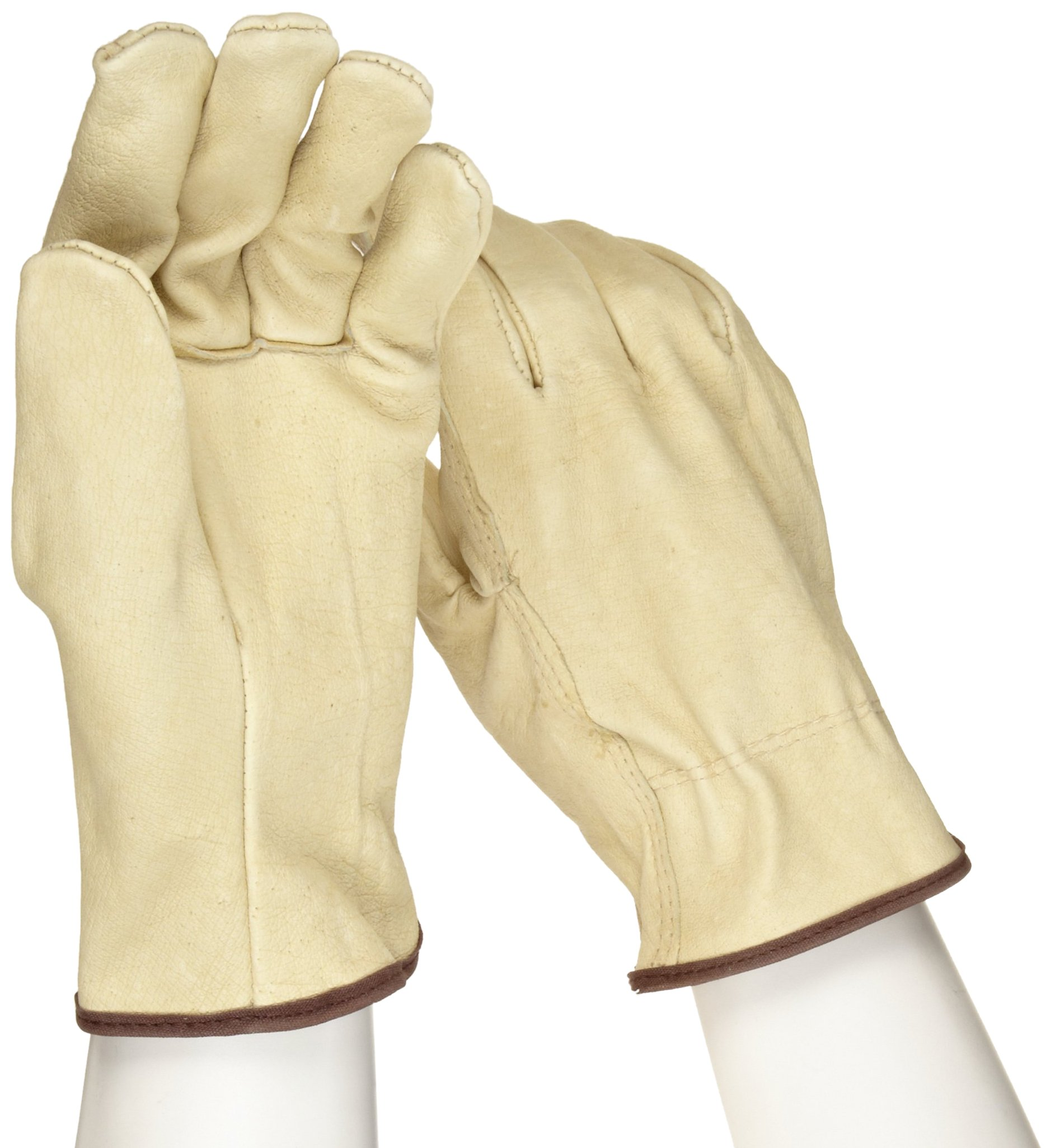 West Chester 994 Select Grain Pigskin Leather Driver Work Gloves: Straight Thumb, Large, 12 Pairs by West Chester (Image #2)