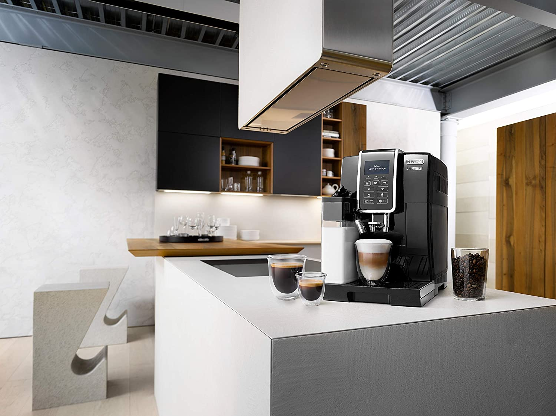 Delonghi Dinamica Ecam350.55.B - Cafetera superautomática, 1450w, función cappuccino, personalización variedad de bebidas, panel de control intuitivo con pantalla lcd y botones táctiles, negro: Amazon.es: Hogar