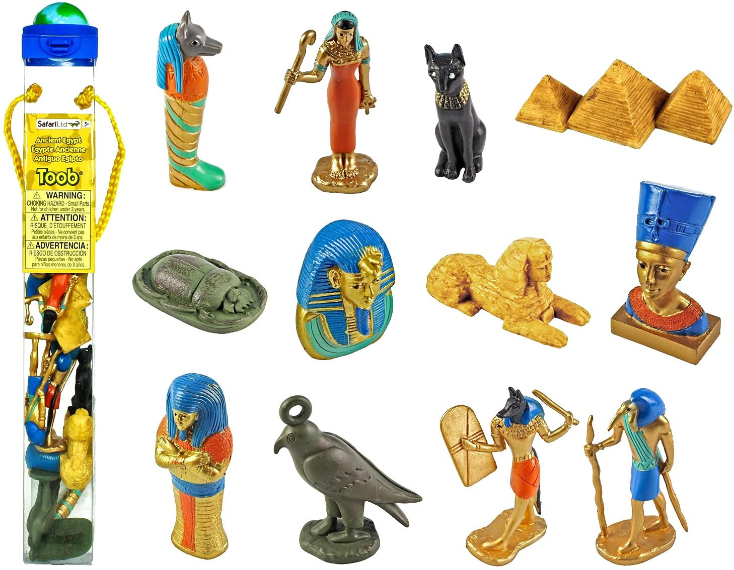 Safari Ltd. Toob 699304 - Antiguo Egipto, figuras coleccionables pintadas a mano