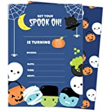 amazon com spooky ghost shaped fill in invitations halloween