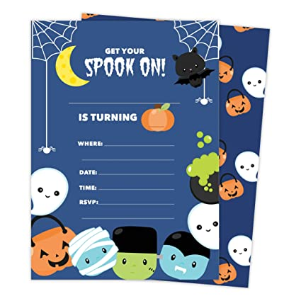 Amazon Halloween Boys 2 Happy Birthday Invitations Invite Cards