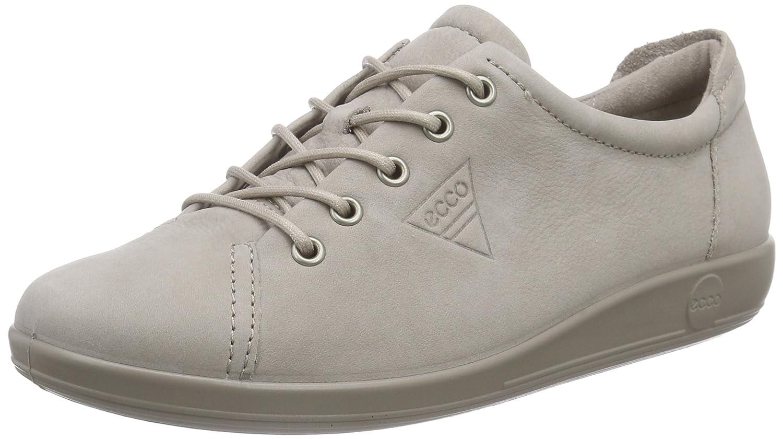 Ecco Ecco Soft 2.0 - Zapatos con Cordones de Cuero Mujer 41 EU|Gris (Moon Rock2459)