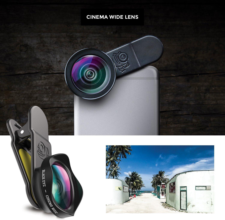 Black Eye Pro Cinema Wide G4 120/° Weitwinkelobjektiv - G4CW001 optimiert f/ür neuere Smartphones Universelle Clip-Befestigung, Doppelseitige Antireflex-Beschichtung, Funktioniert auch mit DualCams