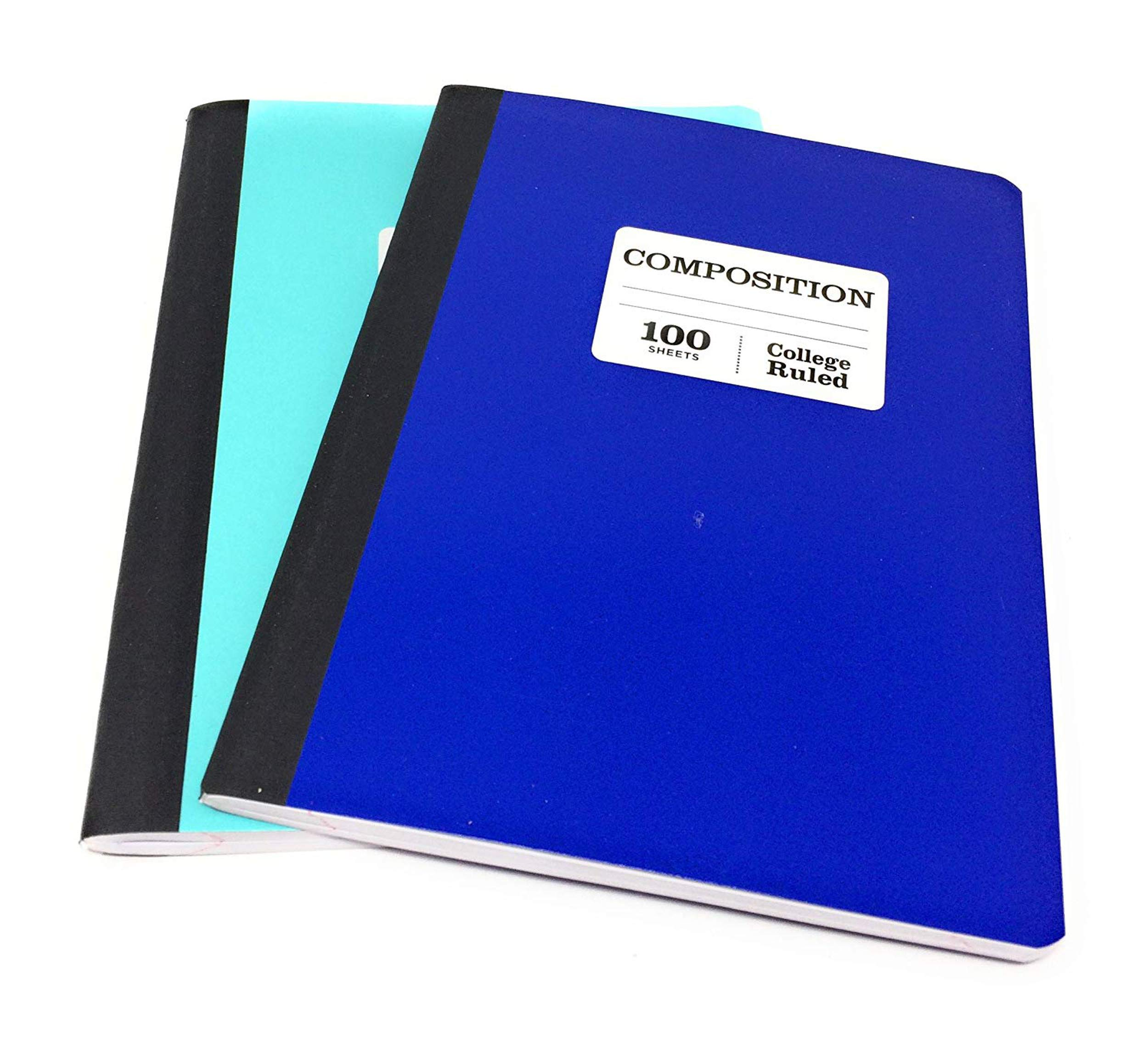 Pen + Gear 100 Sheet Composition Notebooks, College Ruled, Pack of 2 (Shades of Blue)