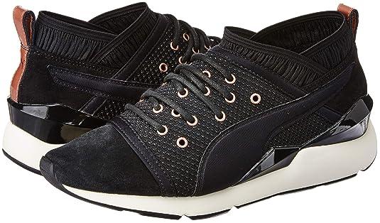 Puma Femmes Noir Pearl Basket UK 3: : Chaussures et