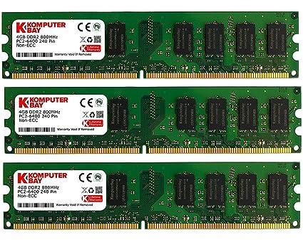 Komputerbay - Memoria RAM (DDR2, 667 MHz, 12 GB, CL5, 3 x 4 GB)