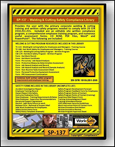 Amazon com: SP-137 - WELDING & CUTTING SAFETY COMPLIANCE