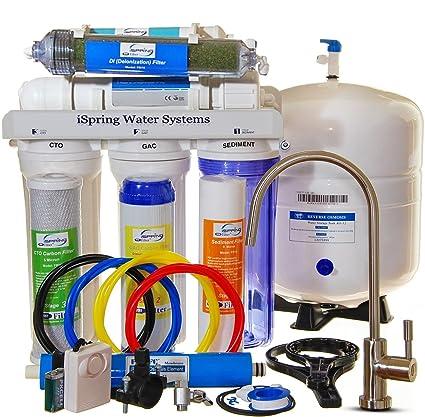 iSpring 75 GPD 7-stage de-ionization de ósmosis inversa filtro de agua con