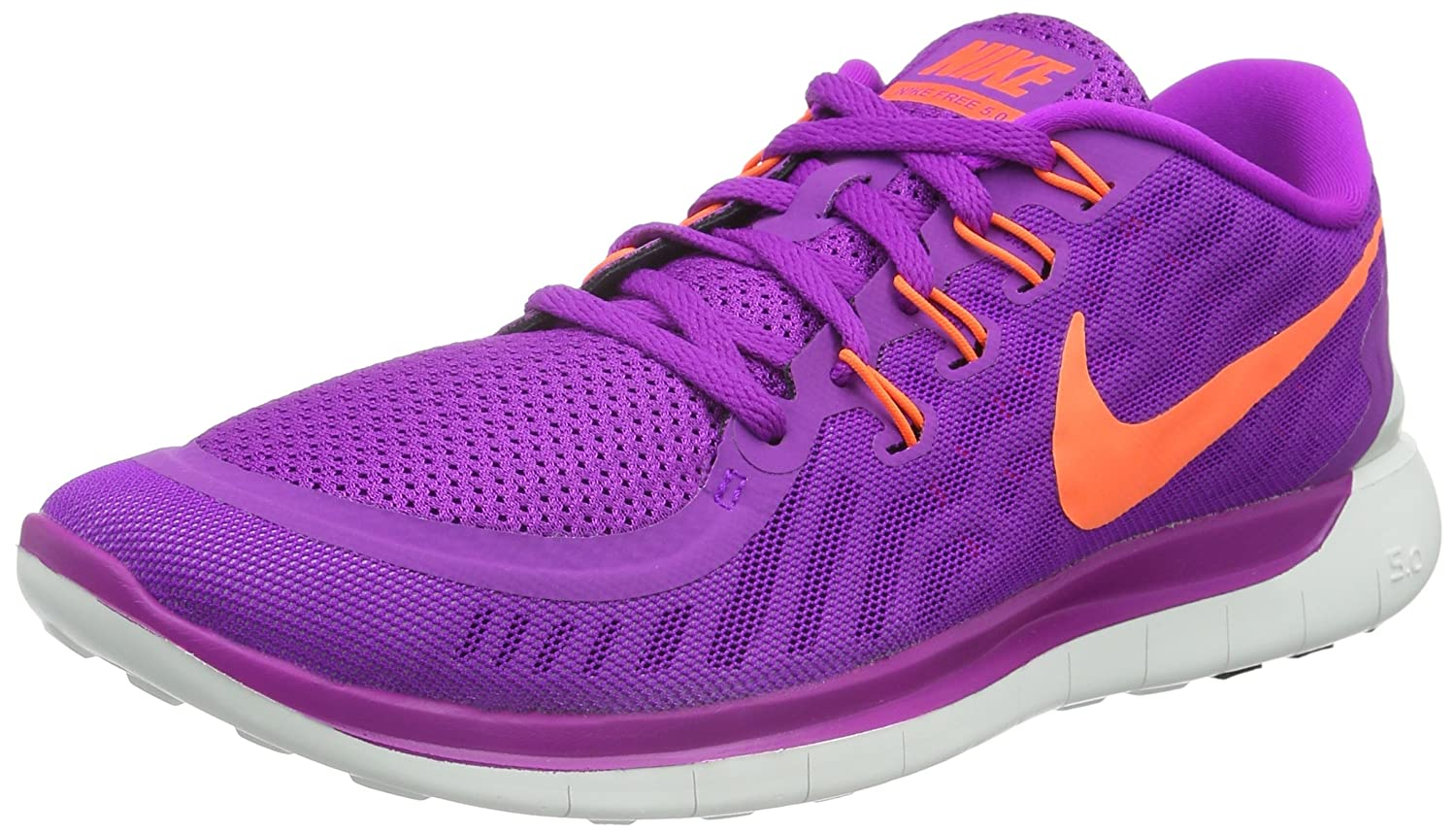 Nike Women's Free Running Shoe B00V43AQIS 7 B(M) US|vivid purple/black/fuchsia glow/hyper orange