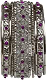BangleEmporium Gehna collection! Purple Kadas Bangle Bracelet set size X-Large 2.12