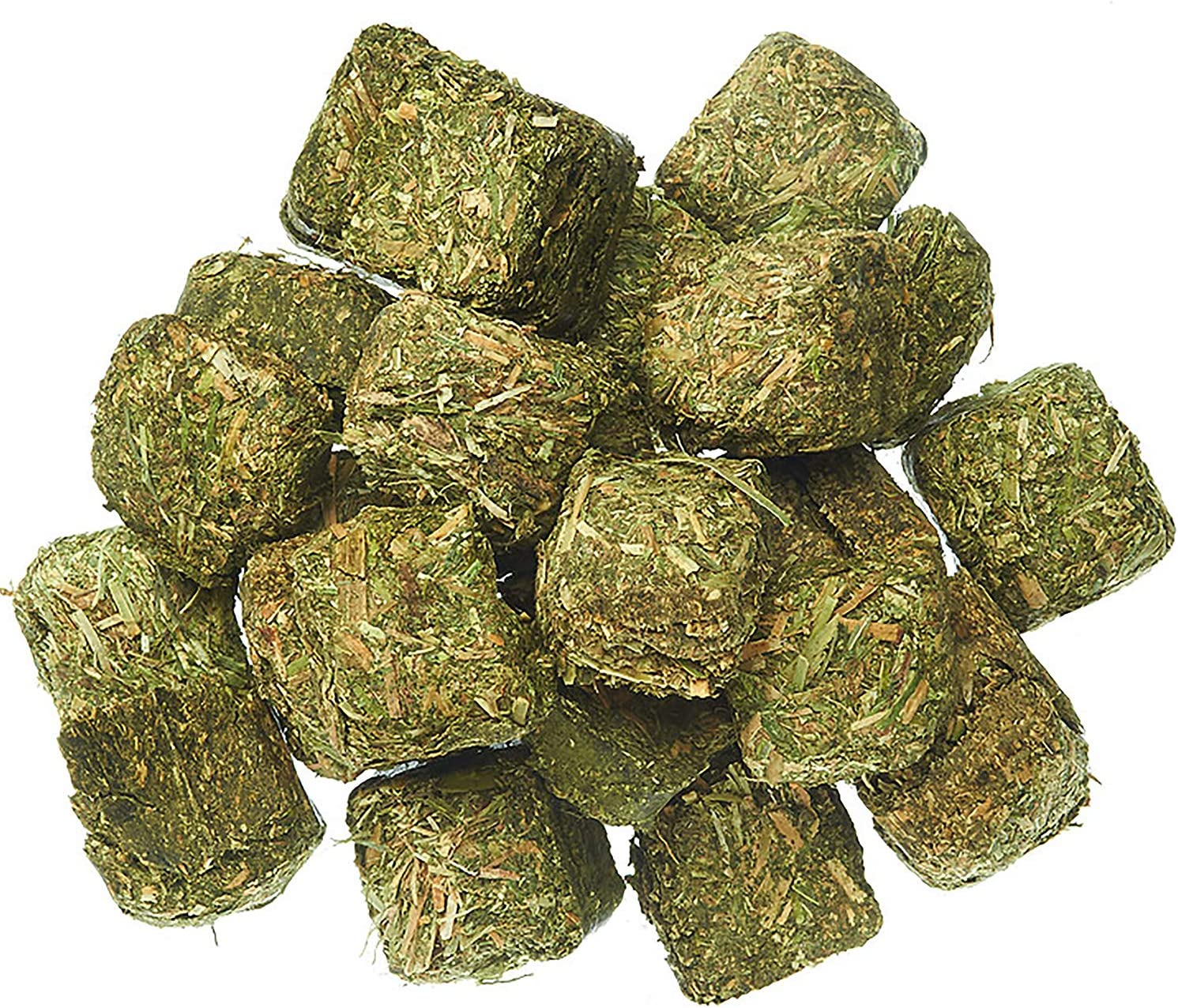 Timothy Hay Cubes 3 lb - 100% All Natural, High Fiber, Sun Cured Timothy Grass Food & Treat - Rabbits, Guinea Pigs, Chinchillas, Degus, Prairie Dogs, Tortoises, Hamsters, Gerbils, Rats & Small Pets