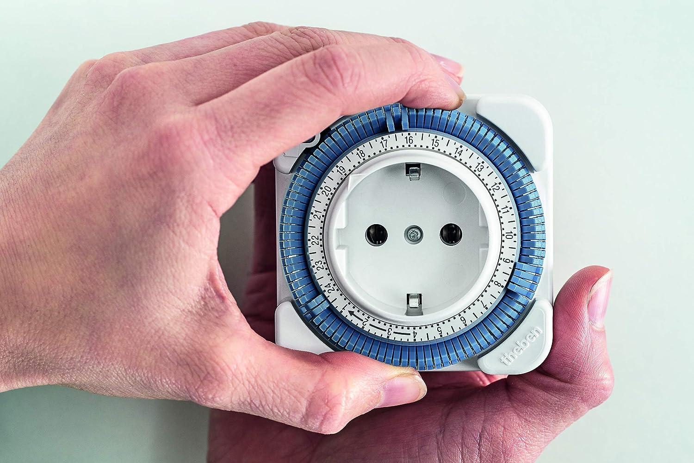 wei/ß Zeitprogrammstecker Steckdosen-Schaltuhr analoge Zeitschaltuhr Theben 0260030 theben-timer 26