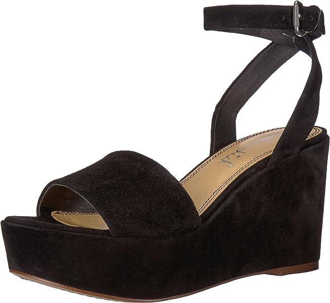 c1eaf19550d0 Amazon.com  Splendid Women s Felix Wedge Sandal Black 7.5 Medium US ...