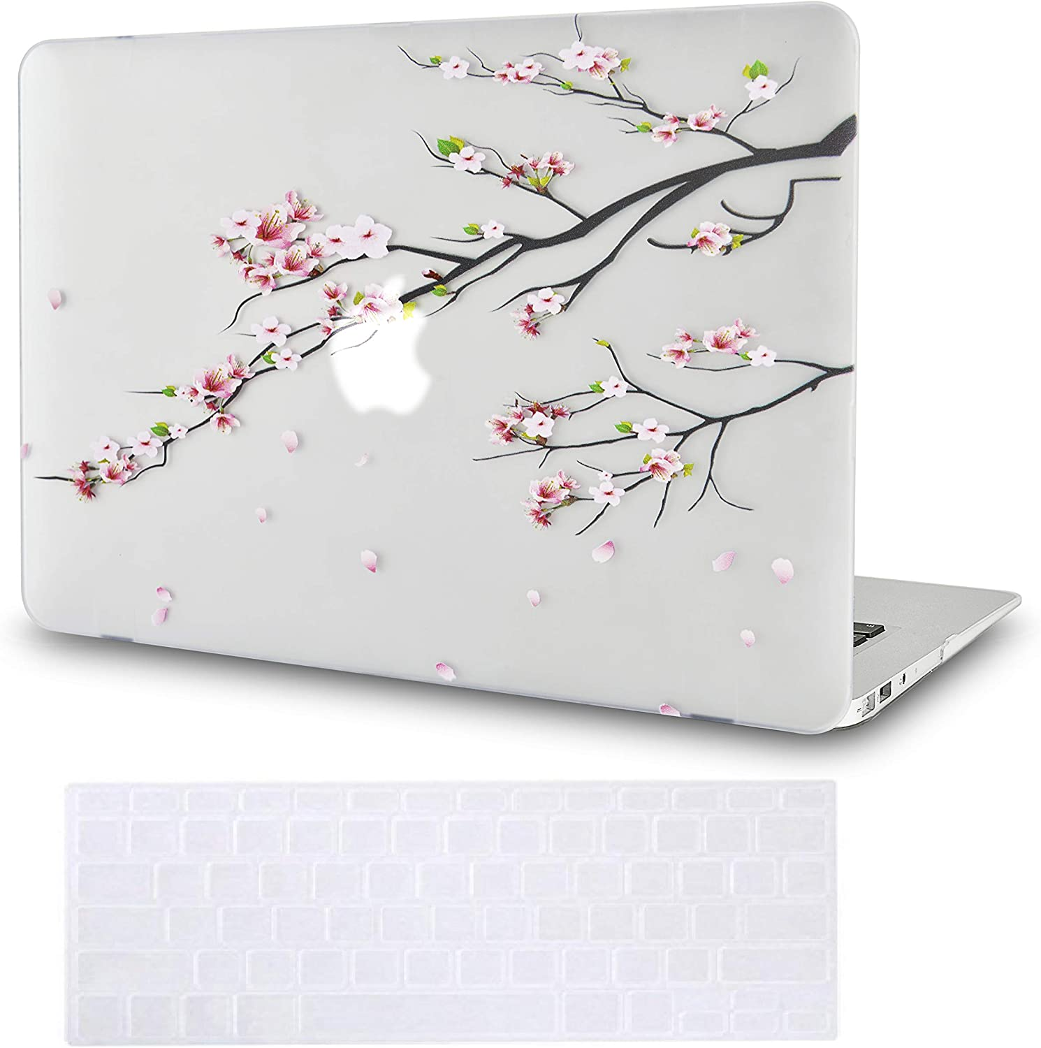 LuvCase 2 in 1 Laptop Case for MacBook Air 13 Inch (2020)(Touch ID) A2179 Retina Display Rubberized Plastic Hard Shell Cover & Keyboard Cover (Sakura Fall)