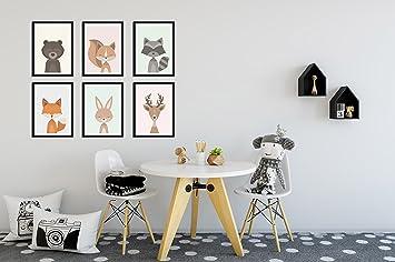 Waldtiere Als Baby Poster Set Poster Und Kinderzimmer Dekoration
