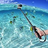 Perche Selfie étanche Selfie Stick télescopique sans fil Monopode Portable Extensible Selfie Poche Bâton Réglable pour Caméras GoPro HERO 5/4/3+/3 ECT