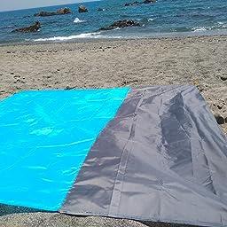 Topspitgo Manta de Picnic de 210 x 200 cm, Manta de Playa ...