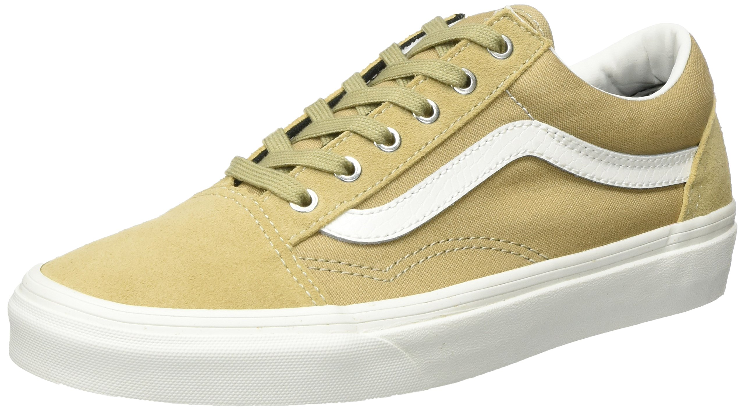 6b2fd40a0ecdf7 Galleon - Vans Unisex UA Old Skool Khaki Blanc Snake 9.5 Women 8 Men M US