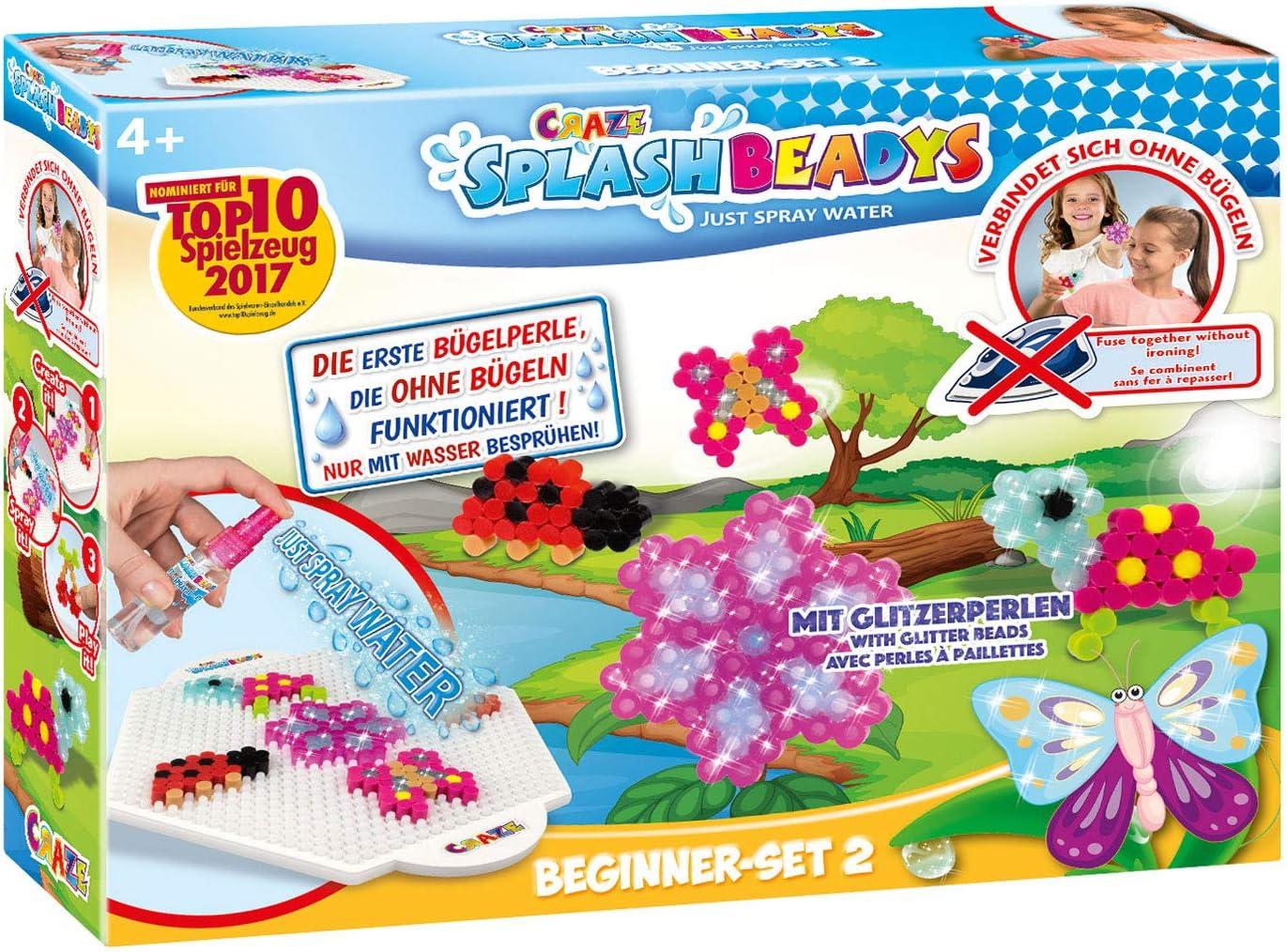 CRAZE- Cuentas Fuse Beads Splash BEADYS Juego de Manualidades para niñas con fusibles de Agua para Principiantes 15308, Multicolor , color/modelo surtido: Amazon.es: Juguetes y juegos