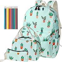 FEWOFJ Mochila Escolar Chicas Lona Vintage Backpack Canvas