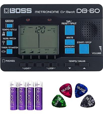 BOSS DB-60 Dr. Beat metrónomo - : blucoil Pack de 4 unidades de ...