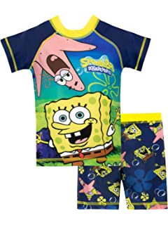 7ca262e62 Amazon.com  Boys Spongebob Squarepants Pajamas Kids Cotton Pjs Set ...