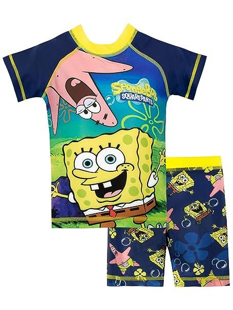 2fcde17e47 Bob Esponja Bañador de Dos Piezas para niño Spongebob Squarepants   Amazon.es  Ropa y accesorios