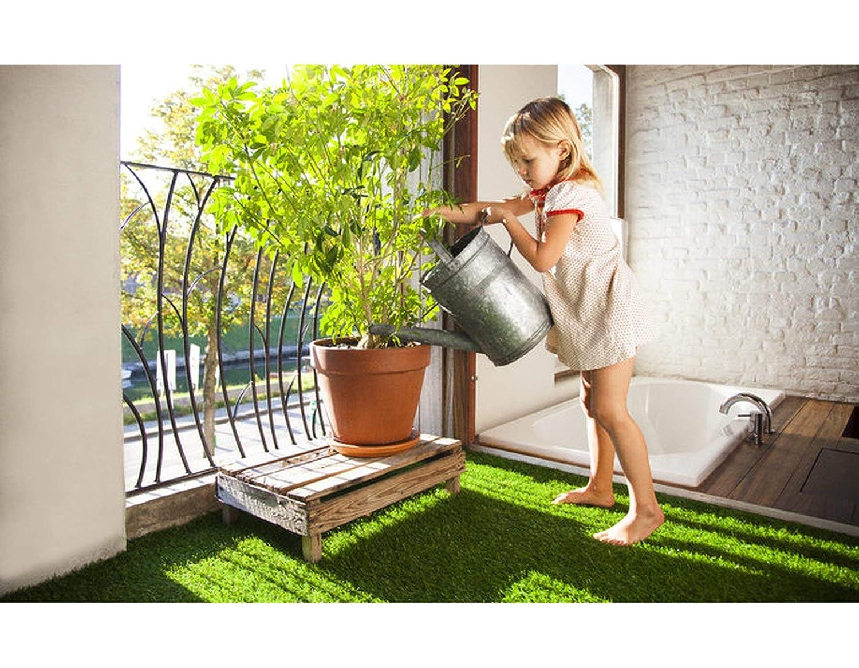 2,50m x 3,50m Florh/öhe 20 mm Kunstrasen Rasenteppich COLORADO mit Drainagefunktion Balkon Bodenbelag UV-Sicher und Wasserdurchl/ässig 60 Liter//Min//m/² f/ür Innen und Au/ßen