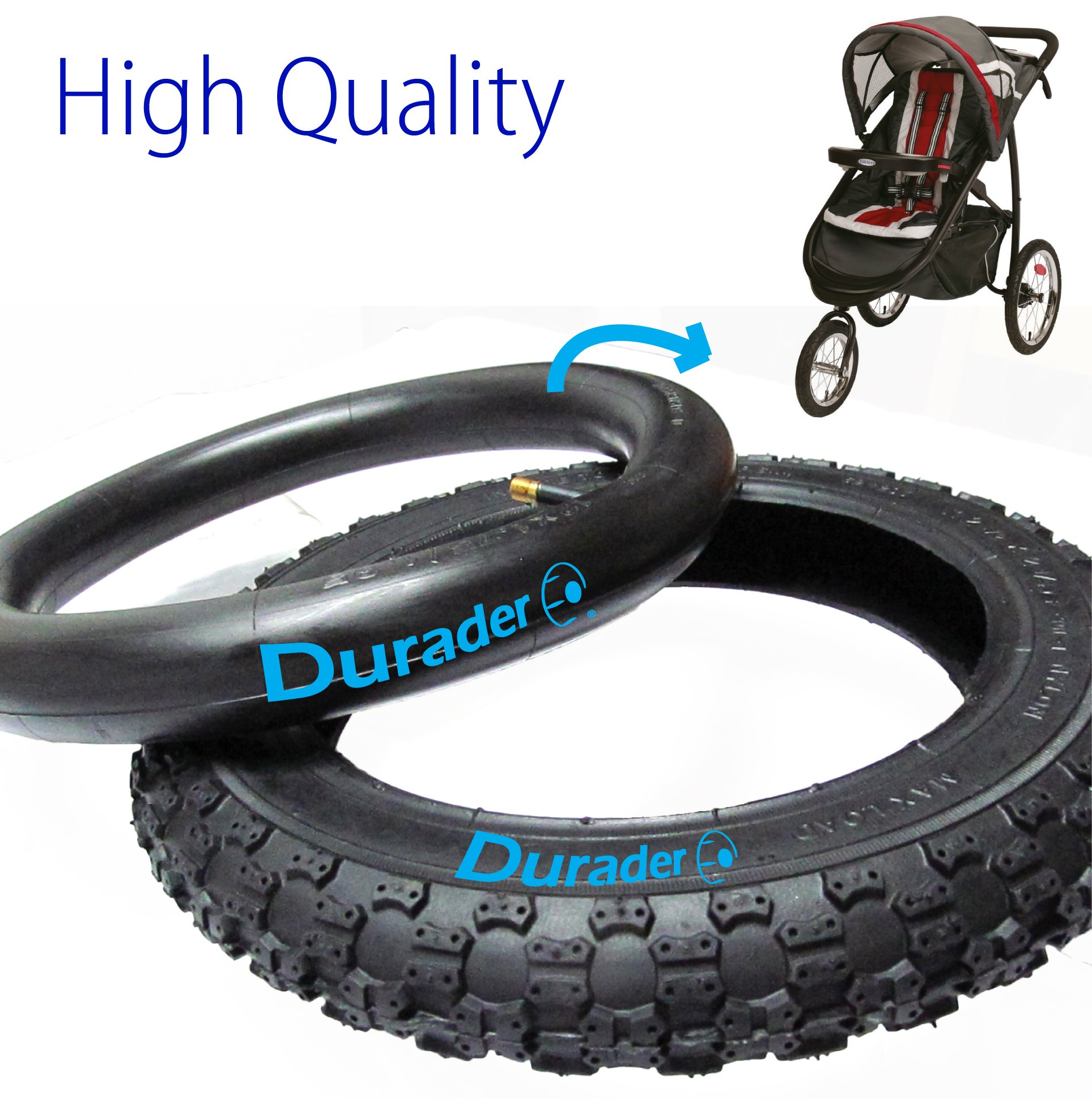 front tire & tube for Graco FastAction Jogger by Lineament (Image #1)