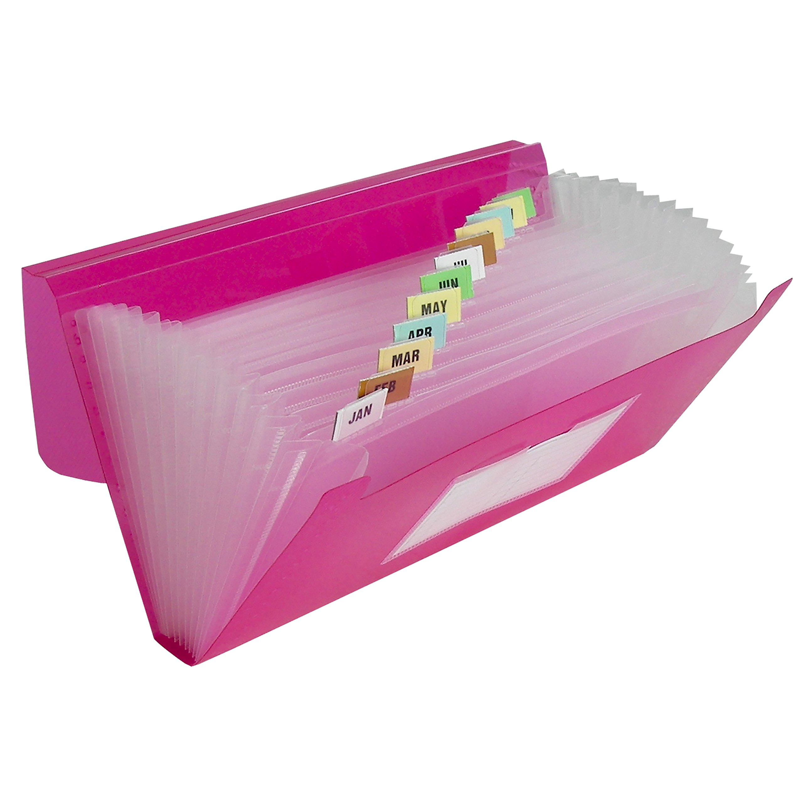 C-Line 13-Pocket Poly Expanding File, 10 x 5 Inches, Junior Size for Receipts and Checks, Includes Tabs, 1 File, Color May Vary (58710)