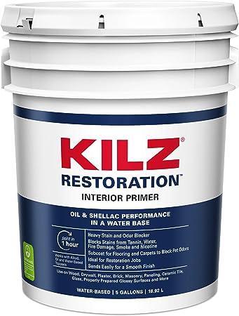 Kilz Max Maximum Stain And Odor Blocking Interior Latex Primer Sealer White 5 Gallon House Primers Amazon Com